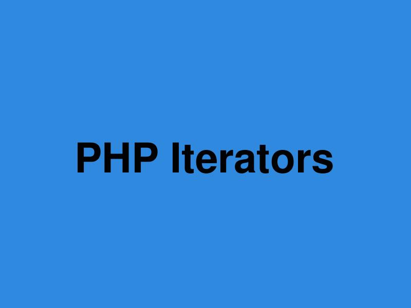 php iterators