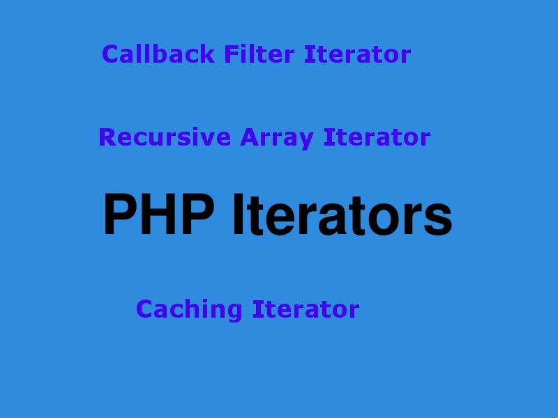 callback filter iterator caching iterator recursive array iterator