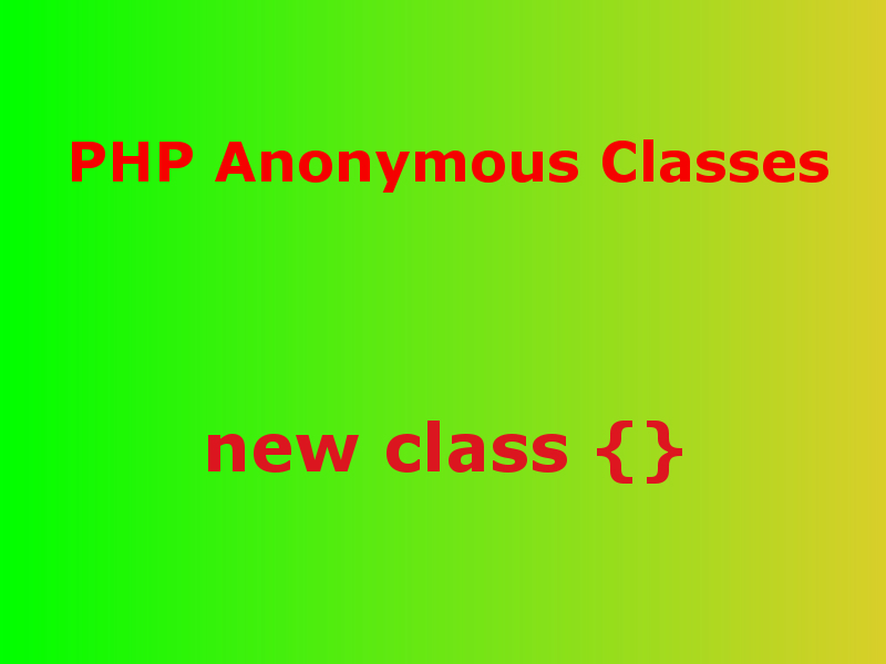 php anonymous classes