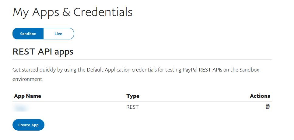 paypal developer dashboard