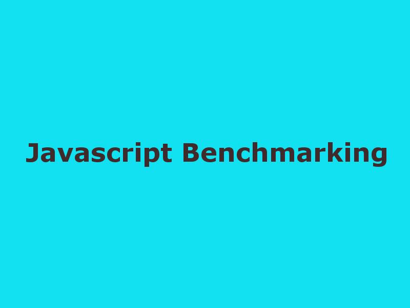 javascript benchmark.js