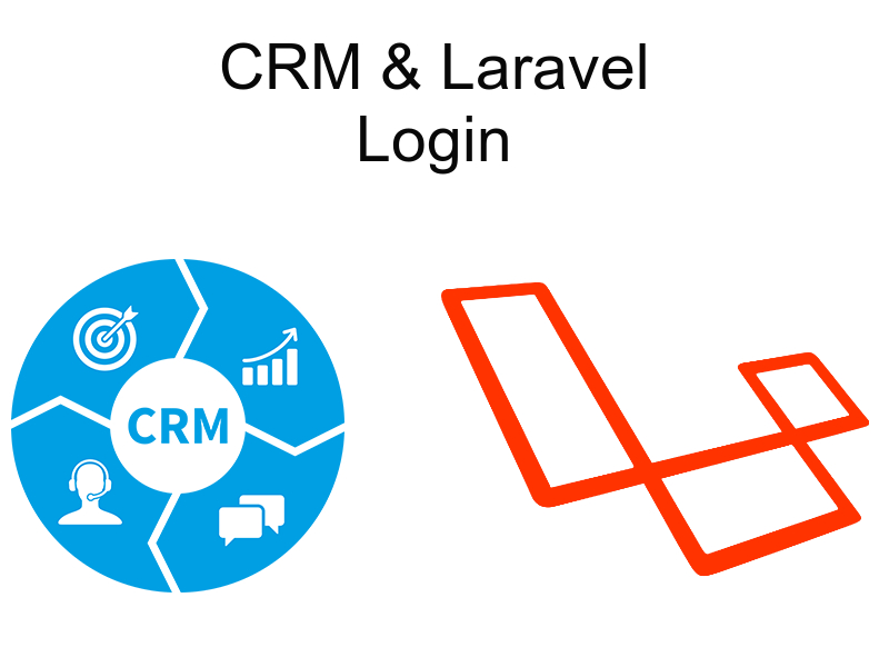 implementing crm with laravel login page