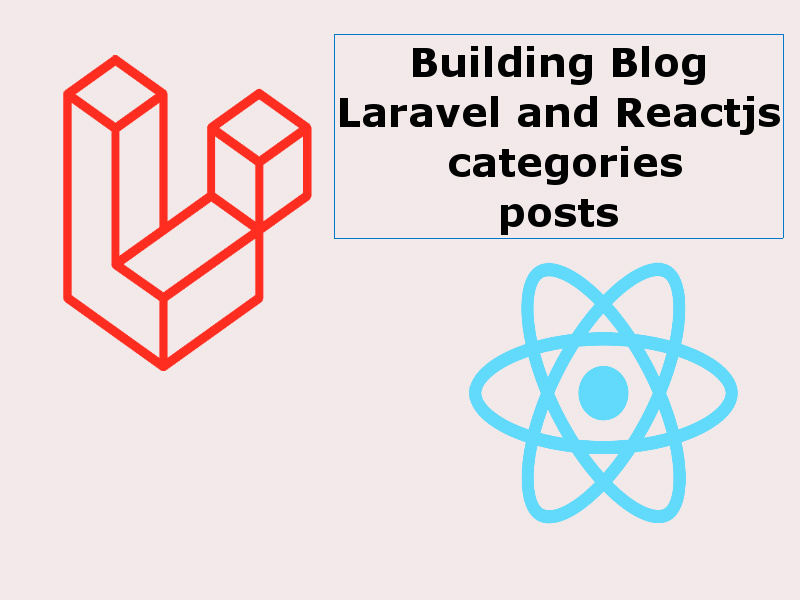 Building a Blog With Reactjs And Laravel website categories and posts