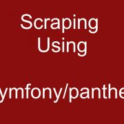 Using Laravel and Symfony-panther To Scrape Javascript Websites