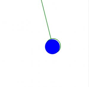 HTML Canvas animation - moving pendulum